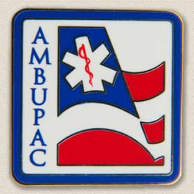Custom Political Action Committee Lapel Pin – EMT/Flag Design #9011