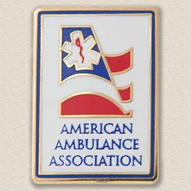 Custom Association Lapel Pin – Ambulance Design #9020