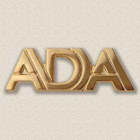 Custom Association Pin – Pierced Letters Design #9026