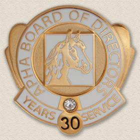 Custom Board Member Pin – Horse Design #9030