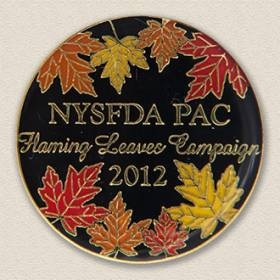 Custom Political Action Committee Pin – Leaves Design #9043