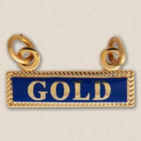 Custom Designation Charm – Gold Design #9046