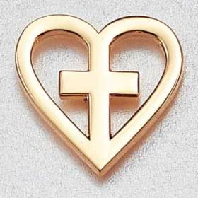 Custom Healthcare Lapel Pin – Heart and Cross Design #941