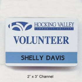 Custom Name Badge with Slot #C-3