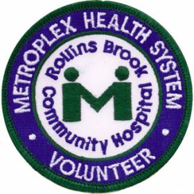 Custom Volunteer Embroidered Patch – Hospital Logo Design #CE-2