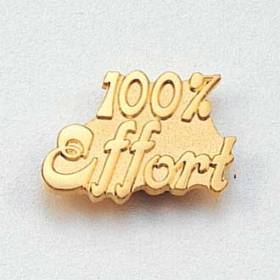100% Effort Lapel Pin #CL-1