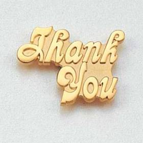 Stock Customer Service Lapel Pin – Letters Design #CL-2