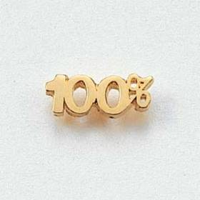 100% Lapel Pin #CL-4