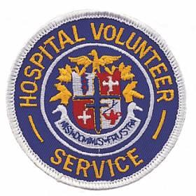 Hospital Volunteer Service Embroidered Emblem #E-1000