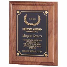 Custom Plaque – Walnut Design #P-100