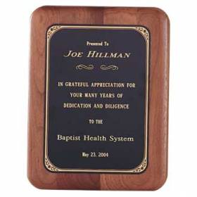 Custom Plaque – Walnut Design #P-107
