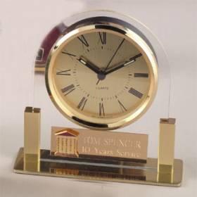 Brass & Acrylic Clock #P-454