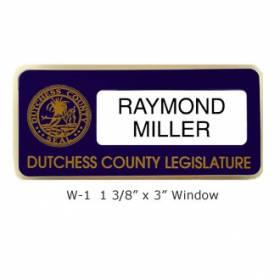 Custom Name Badge with Window #W-1