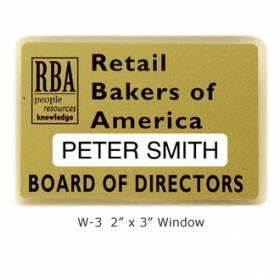 Custom Name Badge with Window #W-3