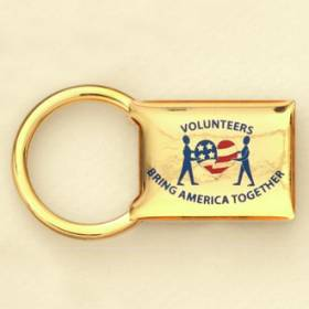 Custom Keychain – Volunteer Design #Gift-C